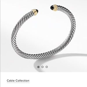 David Yurman Black Onyx Cable bracelet